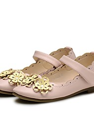 cheap -Girls' Shoes PU(Polyurethane) Spring / Fall / Fall Comfort / Flower Girl Shoes / Light Soles Flats Flower / Magic Tape for Kids Beige / Pink / Party & Evening