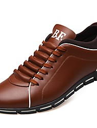 Недорогие -Муж. Комфортная обувь Искусственная кожа Осень Кеды Черный / Желтый / Красный / на открытом воздухе