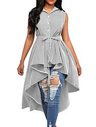 cheap -women's going out shirt - striped shirt collar