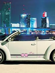 baratos -Vermelho / Rosa Adesivos Decorativos para Carro Desenho Porta Adesivos Desenho Animado Adesivos