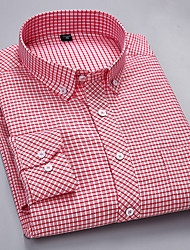 cheap -Men's Business / Basic Shirt - Solid Colored