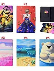 Недорогие -Кейс для Назначение SSamsung Galaxy Tab A 8.0 (2017) Бумажник для карт / со стендом / Авто Режим сна / Пробуждение Чехол Соблазнительная девушка / Животное / Ловец снов Твердый Кожа PU