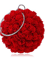 Недорогие -Жен. Мешки Полиэстер / Сплав Вечерняя сумочка Цветы Красный / Розовый / Темно синий