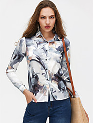 cheap -Women's Holiday Basic Shirt - Geometric Shirt Collar