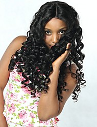 cheap -Indian Hair Loose Wave Cosplay Suits / Natural Color Hair Weaves / Costume Accessories 6 Bundles 8-28 inch Human Hair Weaves Soft / Dancing / Hot Sale Natural Black Human Hair Extensions Women's