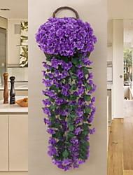 baratos -Flores artificiais 1 Ramo Clássico Rústico Plantas Guirlandas & Flor de Parede