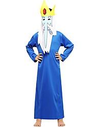Недорогие -ведьма Костюм Мальчики Подростки Хэллоуин Хэллоуин Карнавал День детей Фестиваль / праздник Инвентарь Чернильный синий Однотонный Halloween
