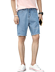 cheap -Men's Basic / Street chic Jeans / Shorts Pants - Solid Colored Print