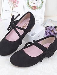 cheap -Girls' Shoes PU(Polyurethane) Spring & Summer Comfort Flats Walking Shoes Bowknot for Kids Black / Brown / Pink