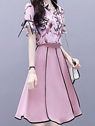 abordables -Mujer Blusa - Floral Falda
