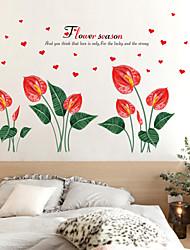 baratos -Autocolantes de Parede Decorativos - Autocolantes de Aviões para Parede Floral / Botânico Sala de Estar / Quarto / Banheiro
