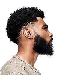 Недорогие -Муж. Натуральные волосы Накладки для мужчин Кудрявый 100% ручная работа Мягкость