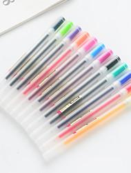 economico -penna Gel Penna Penna, Plastica Multicolore / Rosso / Nero Colori inchiostro Per Materiale scolastico Attrezzature da ufficio Confezione 12 pcs