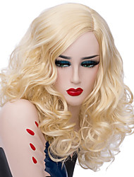 cheap -Wig Accessories / Synthetic Wig Curly Golden Middle Part Synthetic Hair Fashionable Design / Party Golden Wig Women's Short Capless
