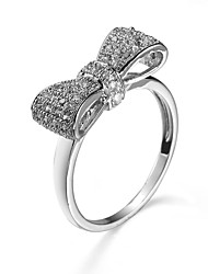 cheap -Women's Stylish Ring - Platinum Plated Butterfly Korean, Fashion 5 / 6 / 7 White For Gift / Holiday