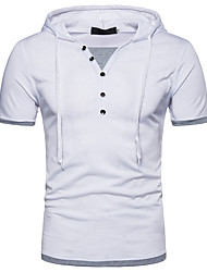cheap -Men's Basic / Street chic T-shirt - Color Block Lace up / Patchwork