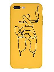 Недорогие -Кейс для Назначение Apple iPhone X / iPhone 8 Plus С узором Кейс на заднюю панель Мультипликация Мягкий ТПУ для iPhone X / iPhone 8 Pluss / iPhone 8