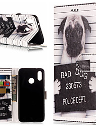 baratos -Capinha Para Huawei P20 Pro / P20 lite Carteira / Porta-Cartão / Com Suporte Capa Proteção Completa Cachorro / Palavra / Frase Rígida PU Leather para Huawei P20 / Huawei P20 Pro / Huawei P20 lite
