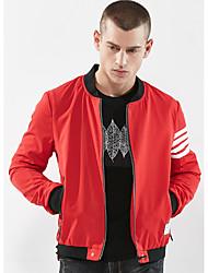 Недорогие -Муж. Куртка Уличный стиль - Однотонный