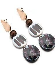 cheap -Women's Long Drop Earrings - Resin Trendy Black For Holiday / Bar
