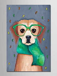 cheap -Oil Painting Hand Painted - Cartoon Modern Canvas