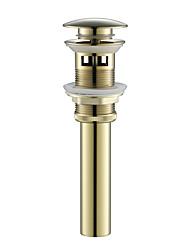 preiswerte -Wasserhahn Zubehör - Gehobene Qualität - Moderne Messing Pop-up Wasserablauf mit Überlauf - Fertig - Ti-PVD