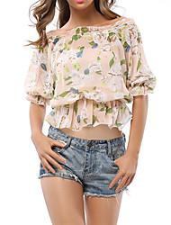 cheap -Women's Boho Blouse - Floral