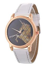 baratos -Mulheres Relógio de Pulso Chinês Relógio Casual / Adorável PU Banda Casual / Fashion Preta / Branco / Azul