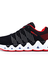 cheap -Men's Knit / Elastic Fabric Fall Comfort Athletic Shoes Running Shoes Color Block Gray / Black / Gold / Black / Red