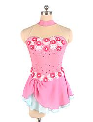 baratos -Vestidos para Patinação Artística Mulheres / Para Meninas Patinação no Gelo Vestidos Rosa claro Elastano, Renda Sem Elasticidade