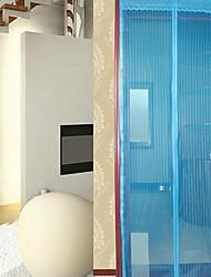 abordables -Puerta Panel Cortinas cortinas Sala de estar Un Color Poliéster Estampado reactivo
