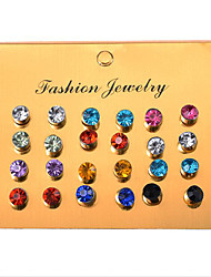 cheap -Women's Crystal / Cubic Zirconia Disco Ball Stud Earrings / Earrings Set - Drop Casual / Sporty, Korean, Sweet Rainbow For Birthday / Daily / Club / 12 Pairs