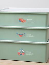 abordables -CLORURO DE POLIVINILO / PÁGINAS Rectángulo Nuevo diseño / Cool Casa Organización, 3pcs Cajas de Almacenamiento