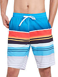 cheap -SBART Men's Swim Shorts Waterproof, Quick Dry, Wearable Polyester / Spandex Swimwear Beach Wear Board Shorts Stripe Surfing / Beach / Water Sports / Stretchy / Breathable / Breathable