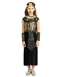 cheap -Pirate Outfits Girls' Halloween / Carnival / Children's Day Festival / Holiday Halloween Costumes Black Solid Colored / Halloween Halloween