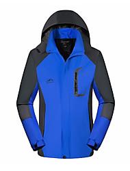 abordables -Homme Sports Printemps Normal Veste, Ville Capuche Manches Longues Polyester Bleu / Noir / Rouge XXL / XXXL / XXXXL