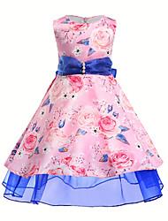 abordables -Enfants Fille Fleur Manches Courtes Robe