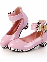 cheap -Girls' Shoes PU(Polyurethane) Spring &  Fall Flower Girl Shoes / Tiny Heels for Teens Heels for Black / Purple
