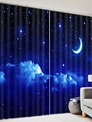 cheap -3D Curtains Kids Room Geometric Polyester Printed
