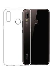 Недорогие -Кейс для Назначение Huawei P20 Pro / P20 lite Ультратонкий / Прозрачный Кейс на заднюю панель Однотонный Мягкий ТПУ для Huawei P20 / Huawei P20 Pro / Huawei P20 lite