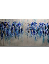 cheap -STYLEDECOR Modern Hand Painted Abstract Blue Oil Painting on Canvas for Wall Art
