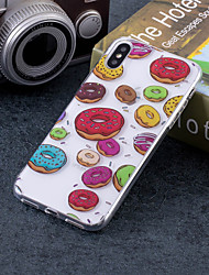 Недорогие -Кейс для Назначение Apple iPhone X / iPhone 8 Plus IMD / С узором Кейс на заднюю панель Продукты питания Мягкий ТПУ для iPhone X / iPhone 8 Pluss / iPhone 8