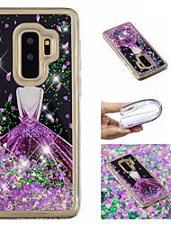 ieftine -Maska Pentru Samsung Galaxy S9 Plus / S9 Scurgere Lichid / Model / Luciu Strălucire Capac Spate Femeie Sexy / Luciu Strălucire Moale TPU pentru S9 / S9 Plus / S8 Plus