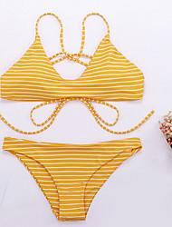 economico -Per donna Bikini - Schiena scoperta, A strisce Tanga