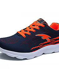 cheap -Men's Knit / Elastic Fabric Fall Comfort Athletic Shoes Running Shoes Color Block Black / Dark Blue / Gray