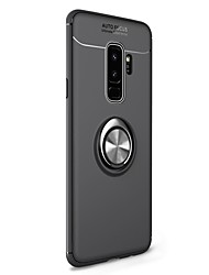 billiga -fodral Till Samsung Galaxy S9 Plus / S8 Plus med stativ / Ringhållare / Magnet Skal Enfärgad Mjukt TPU för S9 / S9 Plus / S8 Plus