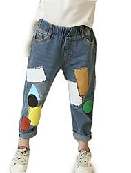 cheap -Kids Girls' Geometric Jeans