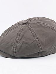 cheap -Men's Vintage / Work Beret Hat - Solid Colored