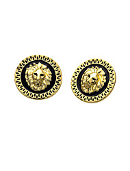cheap -Men's 3D Stud Earrings - Gold Plated Punk, Rock Gold / Rose Gold For Evening Party / Street