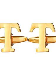 Недорогие -Запонки Алфавит металлический Формальная Брошь Бижутерия Серебряный Золотой Назначение Подарок Повседневные